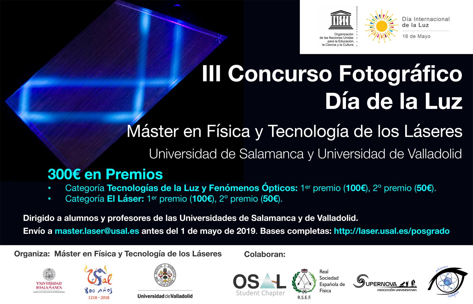 Abierto el plazo para participar en el Concurso de Fotografía «Día de la Luz» 2019